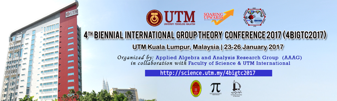 4th Biennial International Group Theory Conference 2017 (4BIGTC 2017)