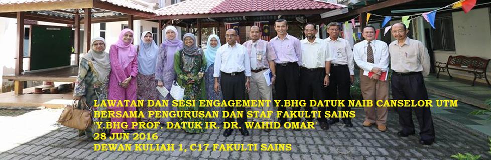 Lawatan dan Sesi Engagement Y. Bhg. Datuk Naib Canselor UTM
