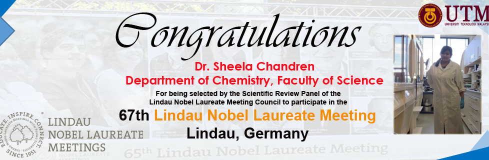 Dr Sheela Chandren to Lindau Meeting!