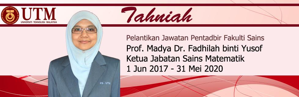Tahniah! Pelantikan Jawatan Pentabir Fakulti Sains