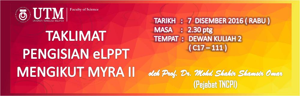 TAKLIMAT PENGISIAN ELPPT MENGIKUT MYRA II