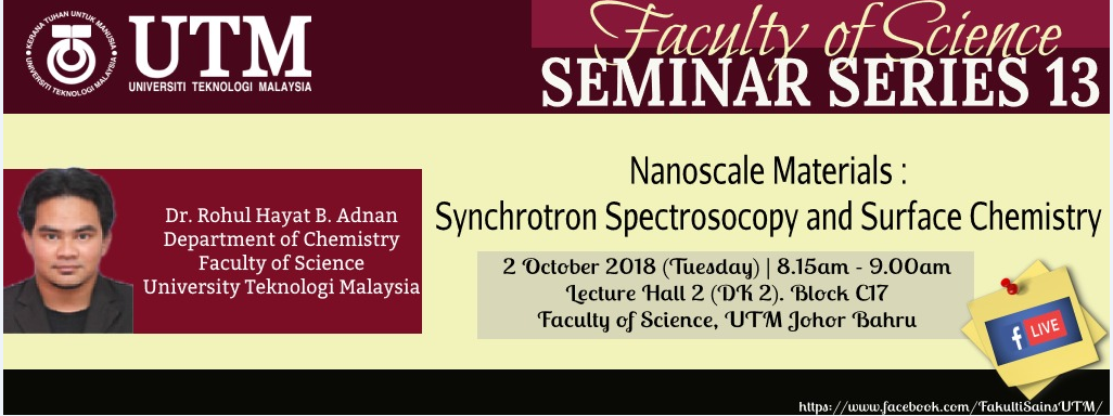 Faculty of Science Seminar Series 13