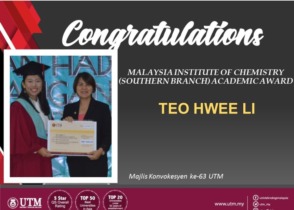 MALAYSIA INSTITUTE OF CHEMISTRY (SOUTHERN BRANCH) ACADEMIC AWARD