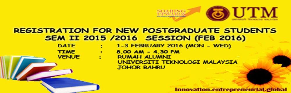 Registration for New Postgraduate Students