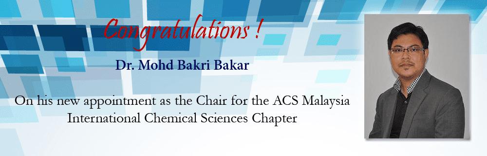 Congratulations Dr. Bakri!