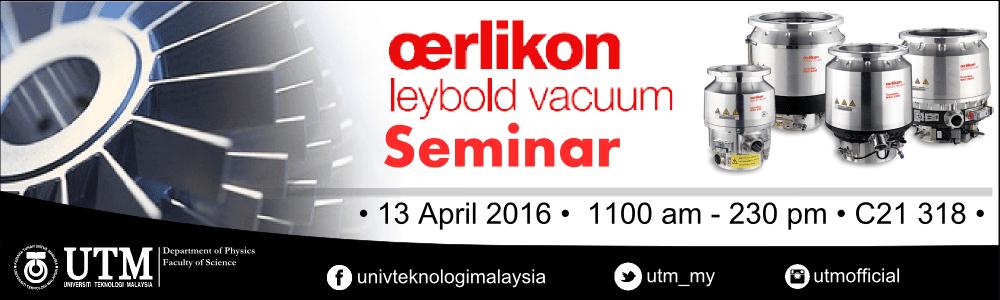 Oerlikon Leybold Vacuum Seminar
