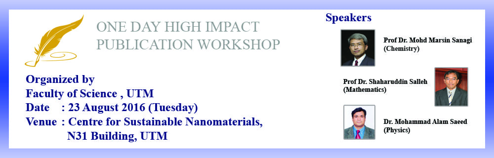One Day High Impact Publication Workshop