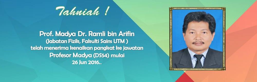 Kenaikan Pangkat Prof. Madya Dr. Ramli bin Arifin