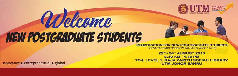 Registration for New Postgraduate Students