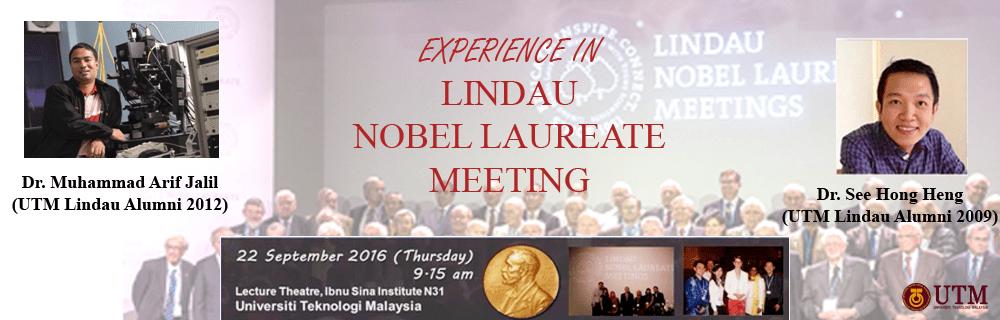 EXPERIENCE IN LINDAU NOBEL LAUREATE MEETING