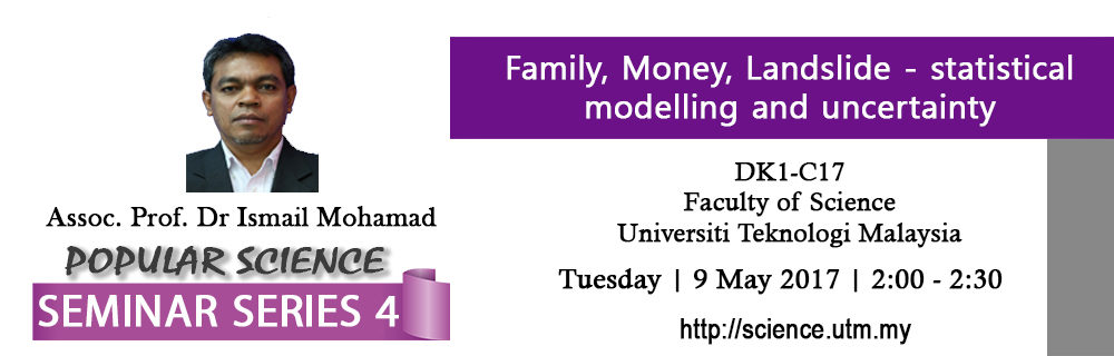 Popular Science Seminar Series 4 | Assoc. Prof. Dr. Ismail Mohamad