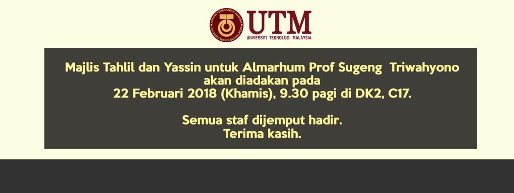 Majlis Tahlil Prof Sugeng Triwahyono