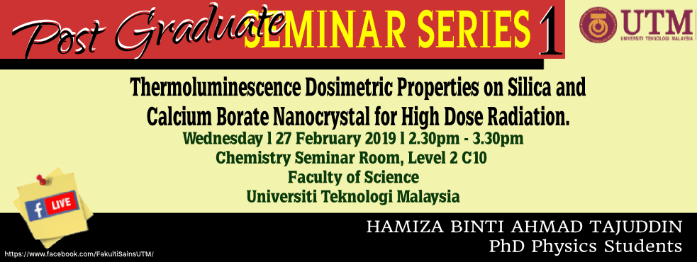 Faculty of Science POSTGRADUATE SEMINAR SERIES 1