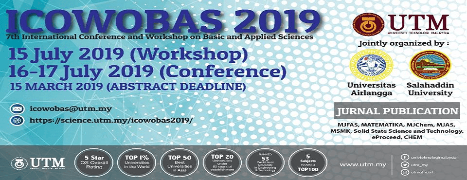 7th International Conference and Workshop on Basic and Applied Sciences (ICOWOBAS 2019)