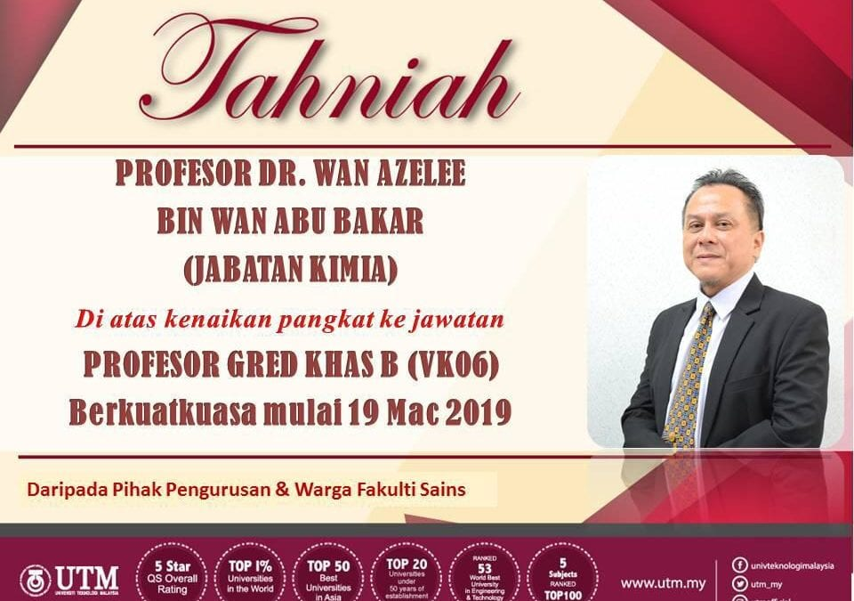 TAHNIAH, Prof Dr Wan Azelee bin Wan Abu Bakar