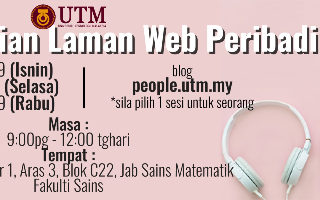 Pengemaskinian Laman Web Peribadi (people.utm.my)