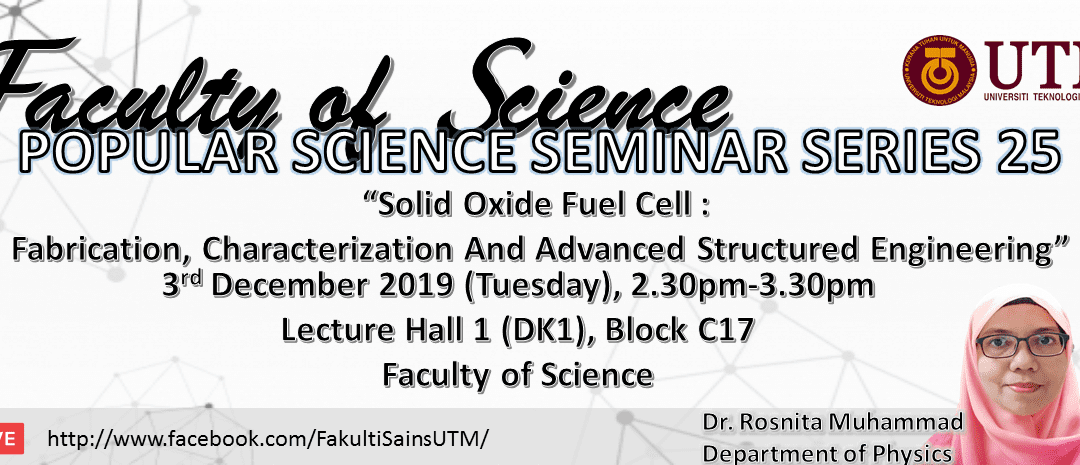 "Faculty of Science ""Popular Science Seminar Series"""