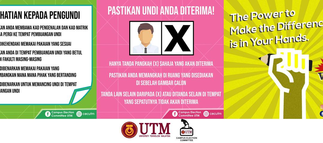Poster Pilihan Raya Kampus UTM 2019