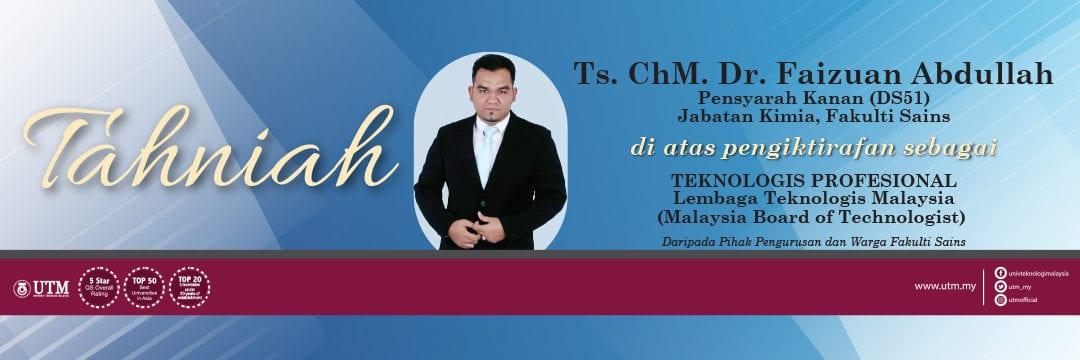 Tahniah Dr ChM Faizuan