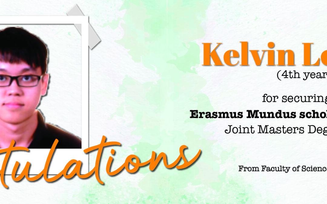 Congratulations – Kelvin
