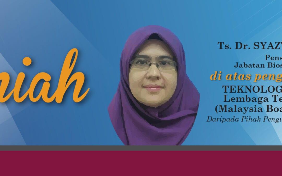 Tahniah ! Ts. Dr. Syazwani