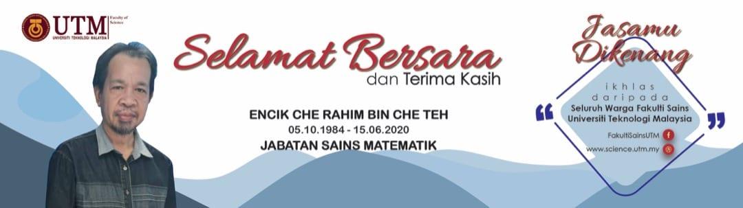 Selamat Bersara Encik Che Rahim