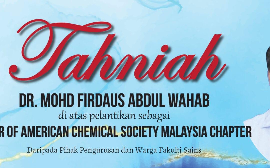 Tahniah-Dr Firdaus